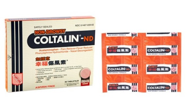 幸福傷风素 -ND(无睡意) Coltalin ND - Non Drowsy Cold Tablets  - 36 tablets