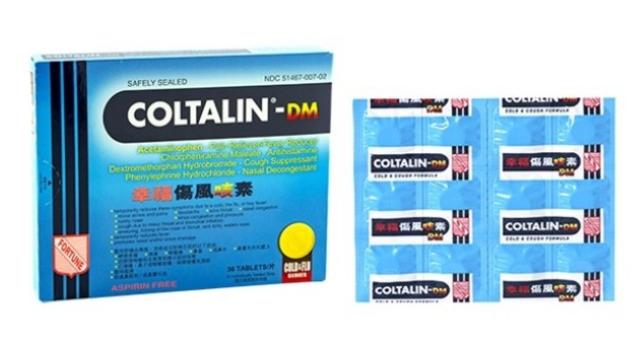 幸福傷风咳素-DM  Coltalin DM - Cold & Cough Formula - 36 tablets