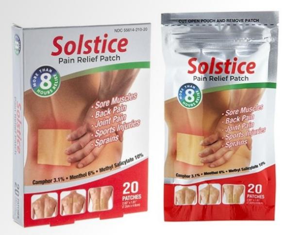 苏氏止痛贴20片 Solstice Pain Relief Patch 20 Sheets